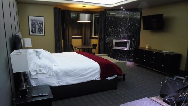 The Winifred International Suites has hotel rooms, a bowling alley, a laundromat and a steakhouse.