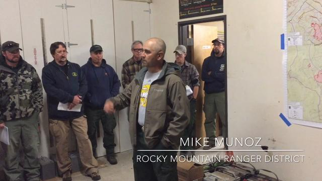 Rain that began falling Wednesday night was the subject of discussion during the morning fire briefing Thursday at the Rocky Mountain Ranger District in Choteau, which is serving as headquarters for area fires.