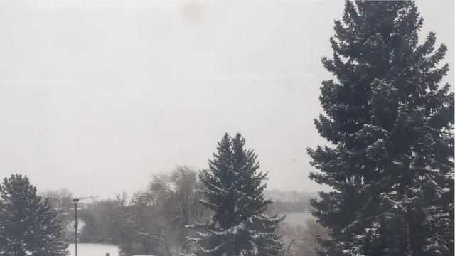 National Weather Service meteorologist Roger Martin says the heaviest snow belt is passing through central Montana.
