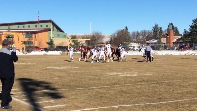 The Coyotes won 28-27 to advance to the Class B state title game.