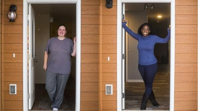 Alissa Doland and Jazmyn Steele are thankful for more than just their houses this Thanksgiving.