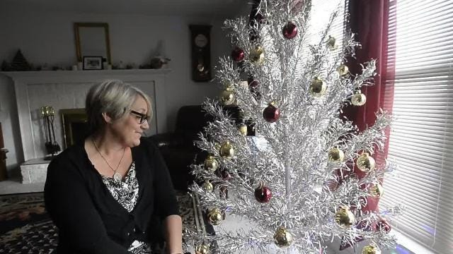 Great Falls Tribune Reporter David Murray's wife Rene has wanted an aluminum tree ever since she was a little girl. She was surprised with one this year.