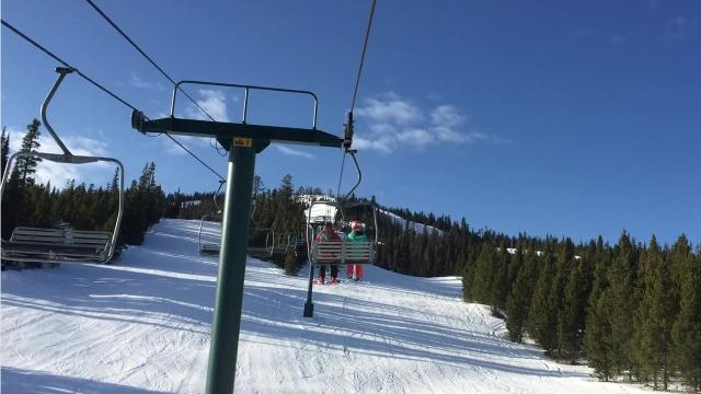 Skiers take to the hills at Showdown Montana near Neihart on opening weekend.