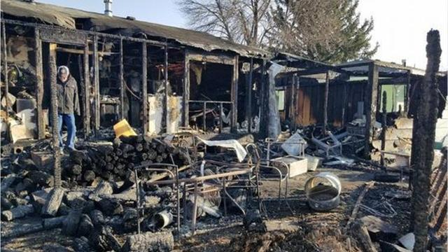 Couple overwhelmed by support following fire