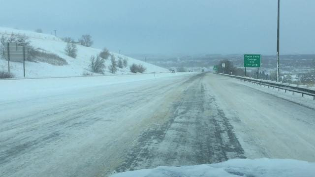 Heavy snow hit Montana creating treacherous driving conditions across the state.