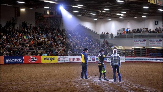 First go-round of the Montana Pro Rodeo Finals