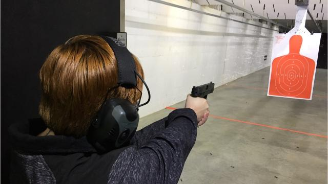 Highwood Creek Outfitters recently expanded its gun store to include an eight-lane indoor gun range, and Traci Rosenbaum of the Great Falls Tribune just had to try it out.