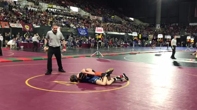 Stroh won via pin as the clock was winding down on the match