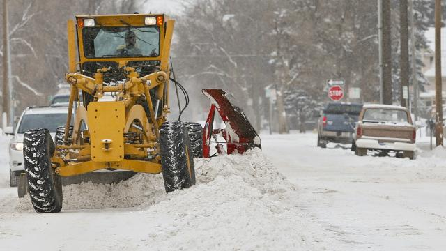 In one of the snowiest years on record, crews are working overtime to clear the streets. (David Murray/The Tribune)