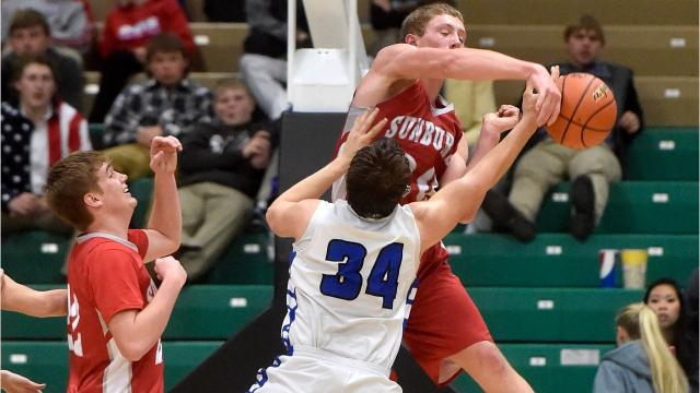 First-round boys' action from the Northern C Divisional tournament in Great Falls