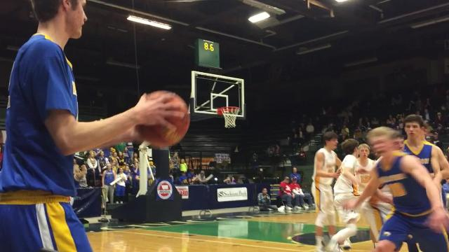 Cade Handran hits game-winner to lift Spartans past Broncs in the first-round of the Class C boys' basketball tournament in Butte.