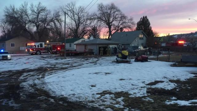 Great Falls Fire and Rescue responded to a garage fire Sunday evening on 8th Avenue Southwest.