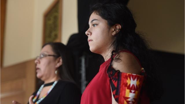Blackfeet designer Belinda Bullshoe brings her fashions to Great Falls as part of the High Noon Indigenous Fashion Show.