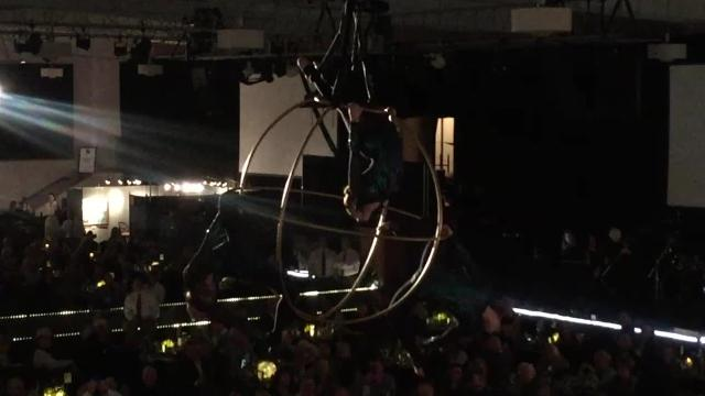 VIDEO: Acrobats and a million-dollar painting at The Russell Live Auction