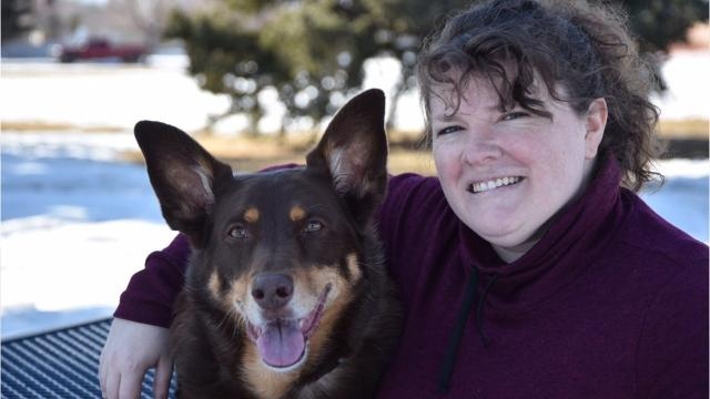 Lisa Godwin's dog, Mona, will be receiving the Purple Paw Award at the Maclean Animal Adoption Center's annual Fur Ball