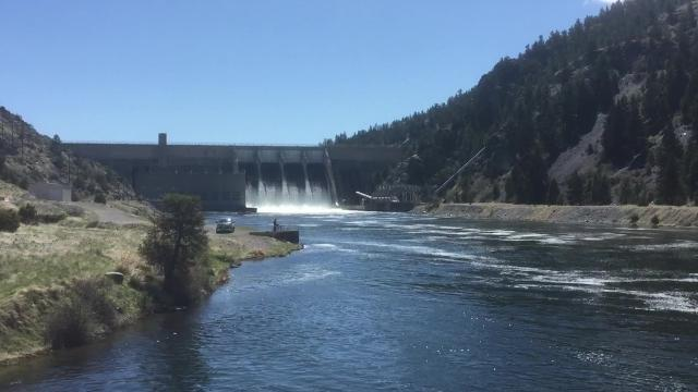 Canyon Ferry dam and reservoir provides electricity, flood control, recreation and irrigation water.
