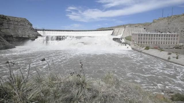 "More than 200 years ago the Lewis and Clark expedition encountered the ""great falls"" of the Missouri River.  Today those falls and four others are the location of five hydroelectric dams."