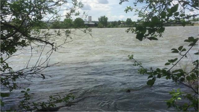 The Missouri River is running very high in Great Falls, Ulm and Fort Benton.