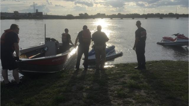 A jet ski stalled at Broadwater Bay on the Missouri River forcing the driver to jump off and swim to shore while his ride drifted downstream.