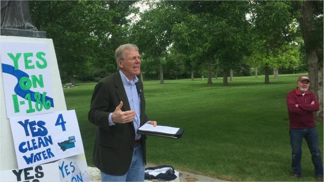 Great Falls Mayor Bob Kelly on Thursday announced his support for I-186.