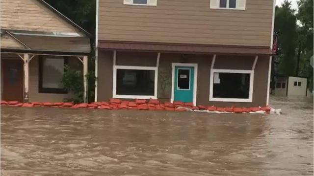 Flood waters overtook the town of Augusta