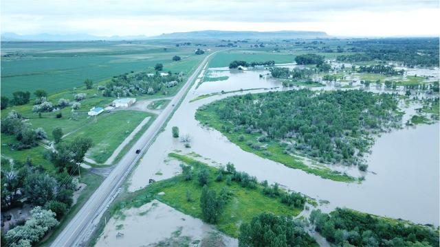 Montana officials warn residents affected by the rising water levels to avoid flooded roads and to monitor NOAA weather reports to stay up to date. (Seaborn Larson/Great Falls Tribune)