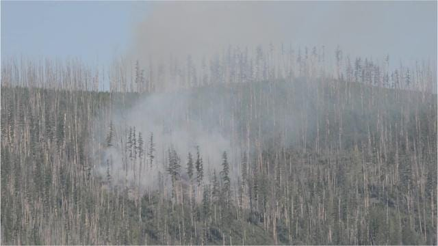 Fires are burning in Glacier National Park, sparked by lightning Saturday.