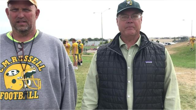 CMR football coach talks about his team and its upcoming game Friday night against Billings Senior in Great Falls
