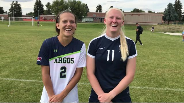 Courteney Shovlin of Montana State Billings and Eme McLaughlin of Providence have been lifelong friends. Now they're soccer rivals.