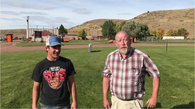 Tribune Sports Writer Lee Vernoy and Centerville senior Cooper Davis goes on a 100-yard talk.
