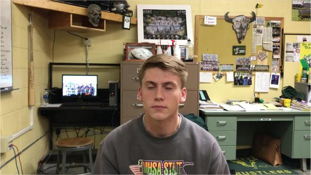 C.M. Russell High junior Bryce Nelson discusses his versatile role with the Rustlers