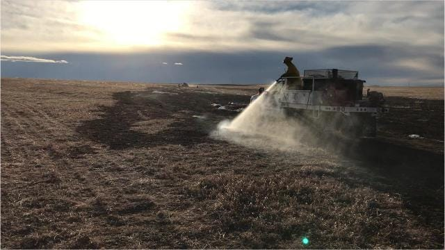 Neighbors and volunteer firefighters quickly responded to a fast-moving grass fire near Stockett Wednesday that burned in dry, windy conditions that have marked the start of 2019.