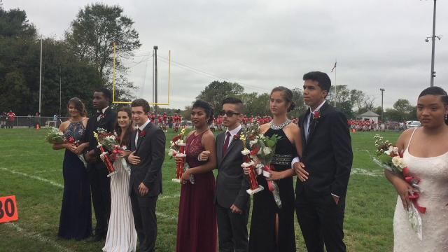 Fradely Delacruz was crowned Miss Monogram during Vineland High School Homecoming festivities Oct. 14 at Gittone Stadium.