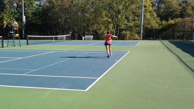 Vineland's Tess Fisher won the school's first state tennis championship on Saturday