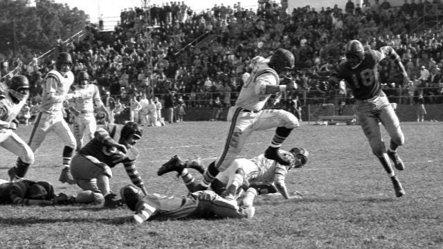 A look back at Vineland High School football vs. Camden, October 22nd, 1955. Photos from The Daily Journal archive.
