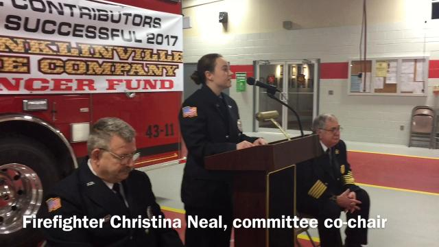 Franklinville Volunteer Fire Co. No. 1 on Feb. 12 donated $10,000 to Virtua Foundation to help Gloucester County residents dealing with cancer battles.