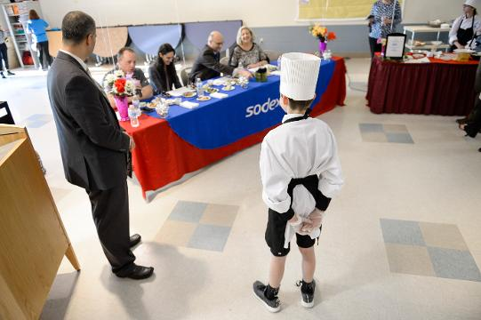 Middle schoolers partake in a 'Future Chefs' competition at Wallace Intermediate School Thursday, April 12, 2018 in Vineland, N.J.