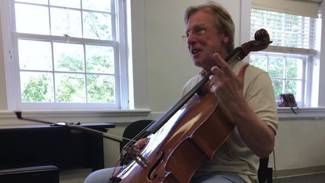 Cellist Frans Helmerson talks about teaching at Heifetz International Music Institute.