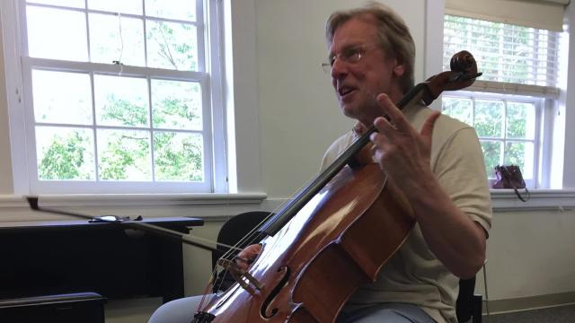 Cellist Frans Helmerson talks about teaching at Heifetz International Music Institute.
