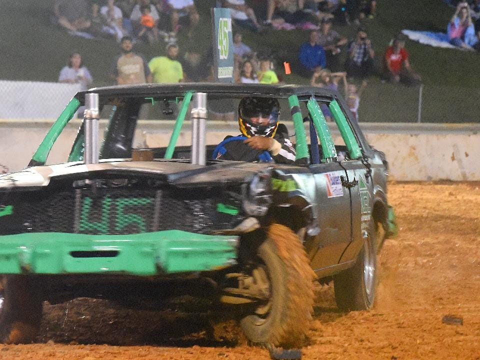 John Breeden of Augusta County, Va., has been behind the wheel driving demolition derby cars for the past 28 years.