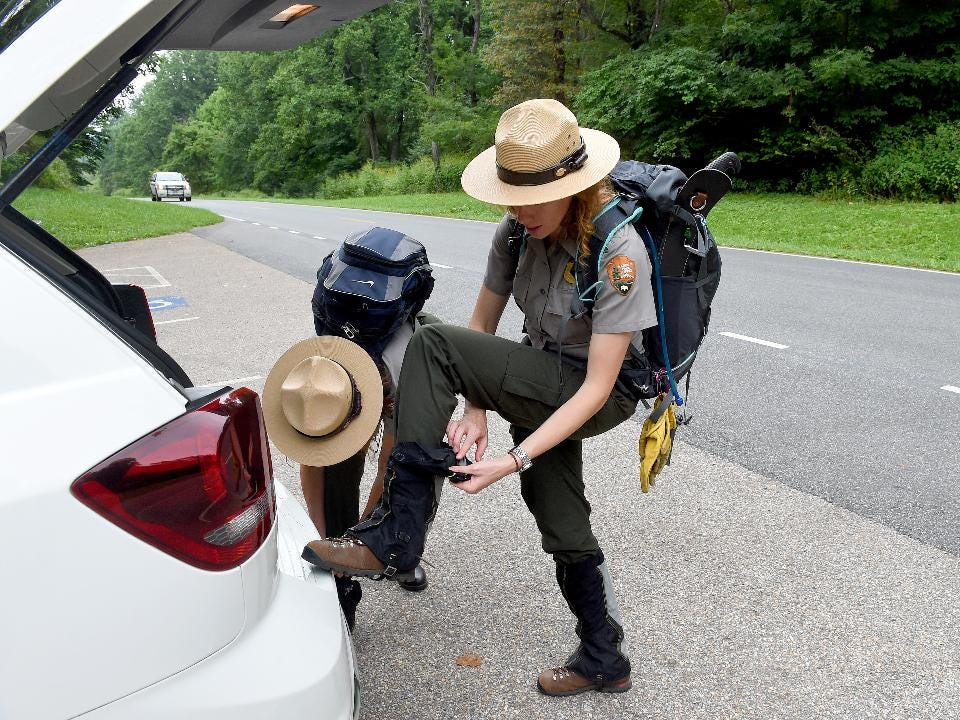Sally Hurlbert and Rebecca Unruh of the National Park Service share information about ticks and how to prevent tick bites.