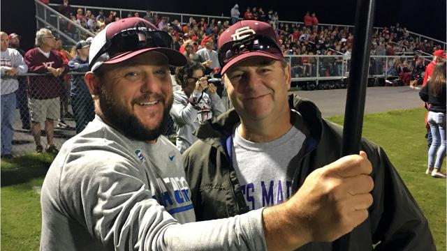 Jimmy Rodgers and Mike Knight are part of the football chain gang at Stuarts Draft home football games. The two discuss why they love their job.