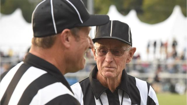 Slim Hite has been working as an official for more than half a century, but he called his final varsity football game Friday night at Robert E. Lee's Winston Wine Stadium.