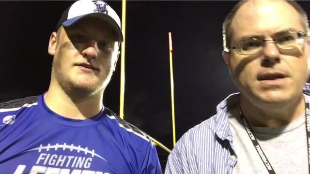 Lee High's Jack Coyner talks about his team's win over Riverheads