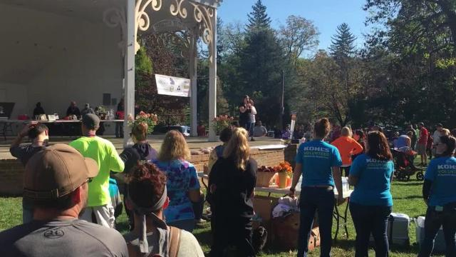 Reporter Laura Peters shares her own personal story of her struggle with suicide during the third annual Out of the Darkness Walk in Staunton on Saturday, Oct. 21, 2017. Video edited by Laura Peters