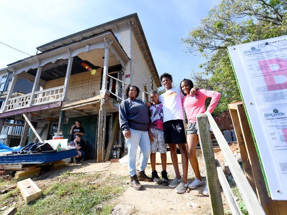 As a partner family, Very Brown and her children help with the work taking place through Staunton-Augusta-Waynesboro Habitat for Humanity to renovate the house on Richardson Street that is their future home — learning life lessons along the way.