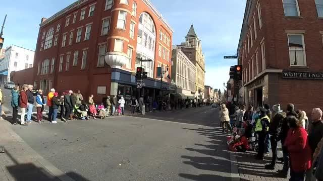 Area veterans, community organizations and school and college bands participated in a parade through downtown Staunton on Saturday, Nov. 11, 2017.