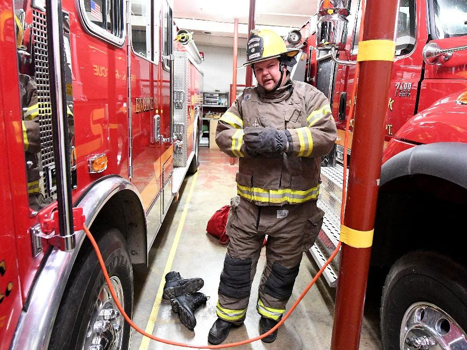 Volunteer firefighter Frank Dull of the Middlebrook Volunteer Fire Department has experienced first hand what 1:00 a.m. fire calls can be like as well as having to then go to work at the regular job with little to no sleep.