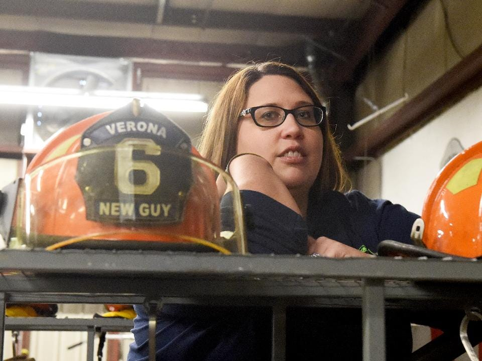 Volunteer EMT Anne Lynch of Verona Volunteer Fire Company has seen a lot in her career and has to deal with how it sticks with a person.