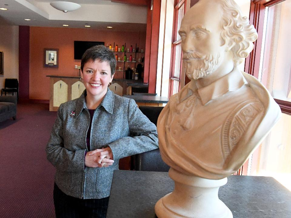 Amy Wratchford works behind-the-scenes at American Shakespeare Center as managing director. Shehas helpedthem navigateroadsleading from the financial red into the black where they can (literally)afford to dream Shakespearean dreams.